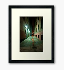 John Street Alley At Night Framed Print