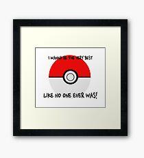 Pokemon Ball Theme Song  Framed Print