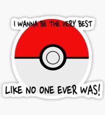 Pokemon Ball Theme Song  Sticker