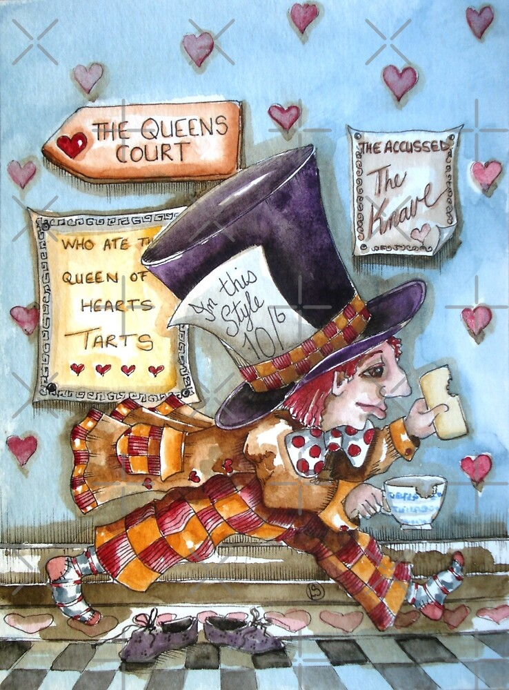 The Mad Hatter - running fom court by StressieCat