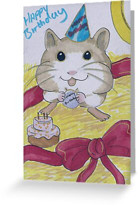 Happy Birthday from your favourite hamster! by debzandbex