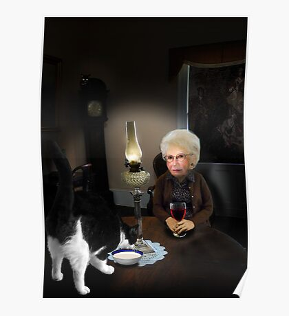 granny by lamplight Poster