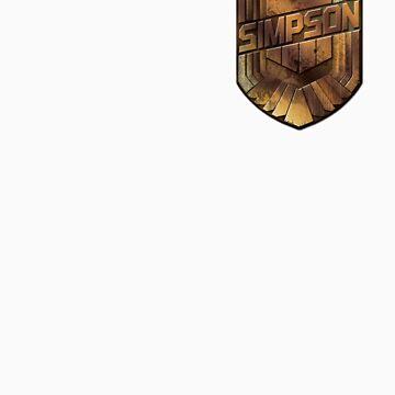Custom Dredd Badge Pocket Shirt - (Simpson) by CallsignShirts