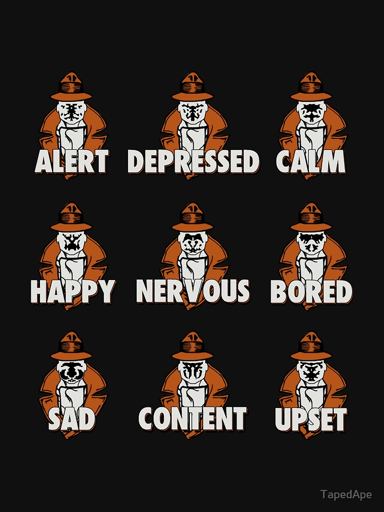Many Emotions of Rorschach by TapedApe