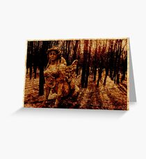 The Spinx Wood Greeting Card