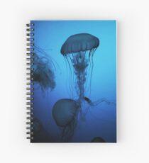 Portrait of a Jellyfish- Blue Spiral Notebook