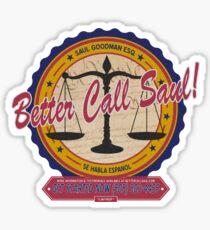 Breaking Bad Inspired - Better Call Saul - Albuquerque Attorney Parody Sticker