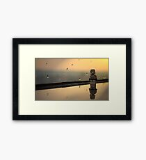 The rain droplets here are huge. Framed Print