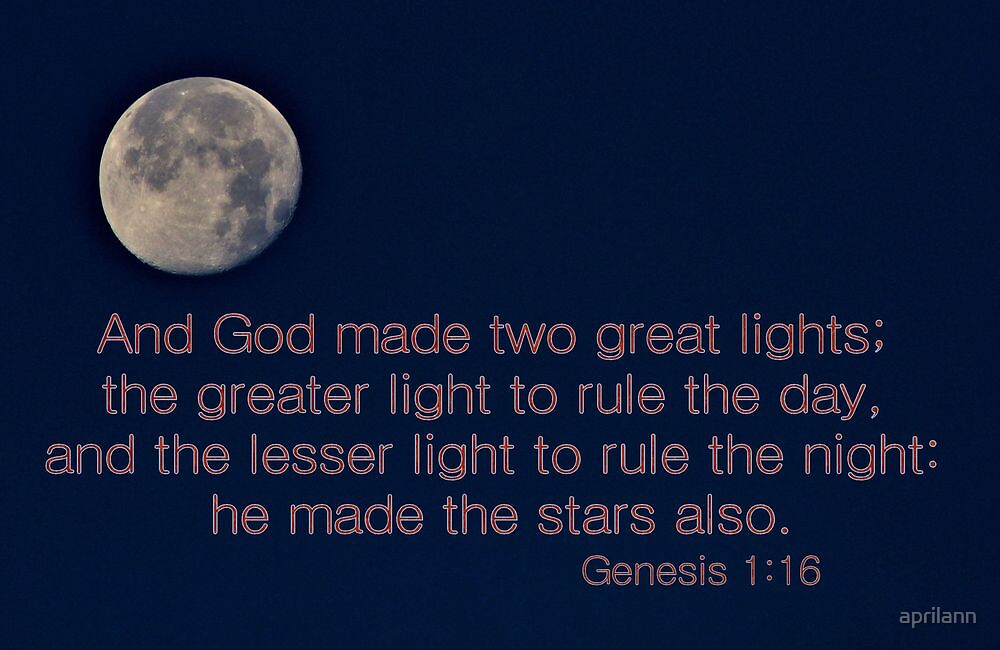 God Made Two Great Lights by aprilann