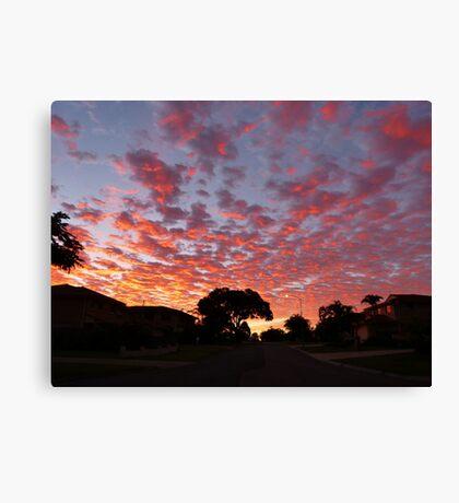 Sunrise this morning Canvas Print