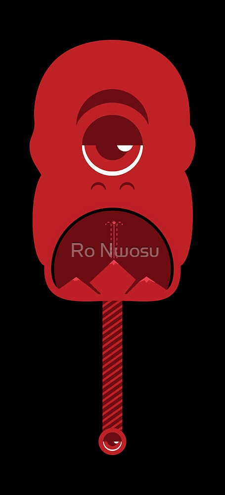 Crimson Mountain Monster by Ro Nwosu