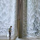 Man Fishing at Spillway by mwfoster