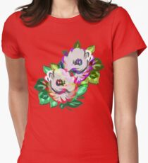 Rosey Rosey Rose Womens Fitted T-Shirt