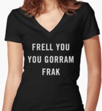 Nerd Swears Women's Fitted V-Neck T-Shirt