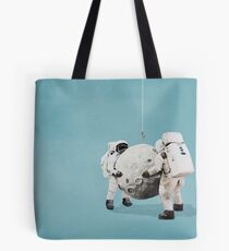 Hanging the moon Tote Bag