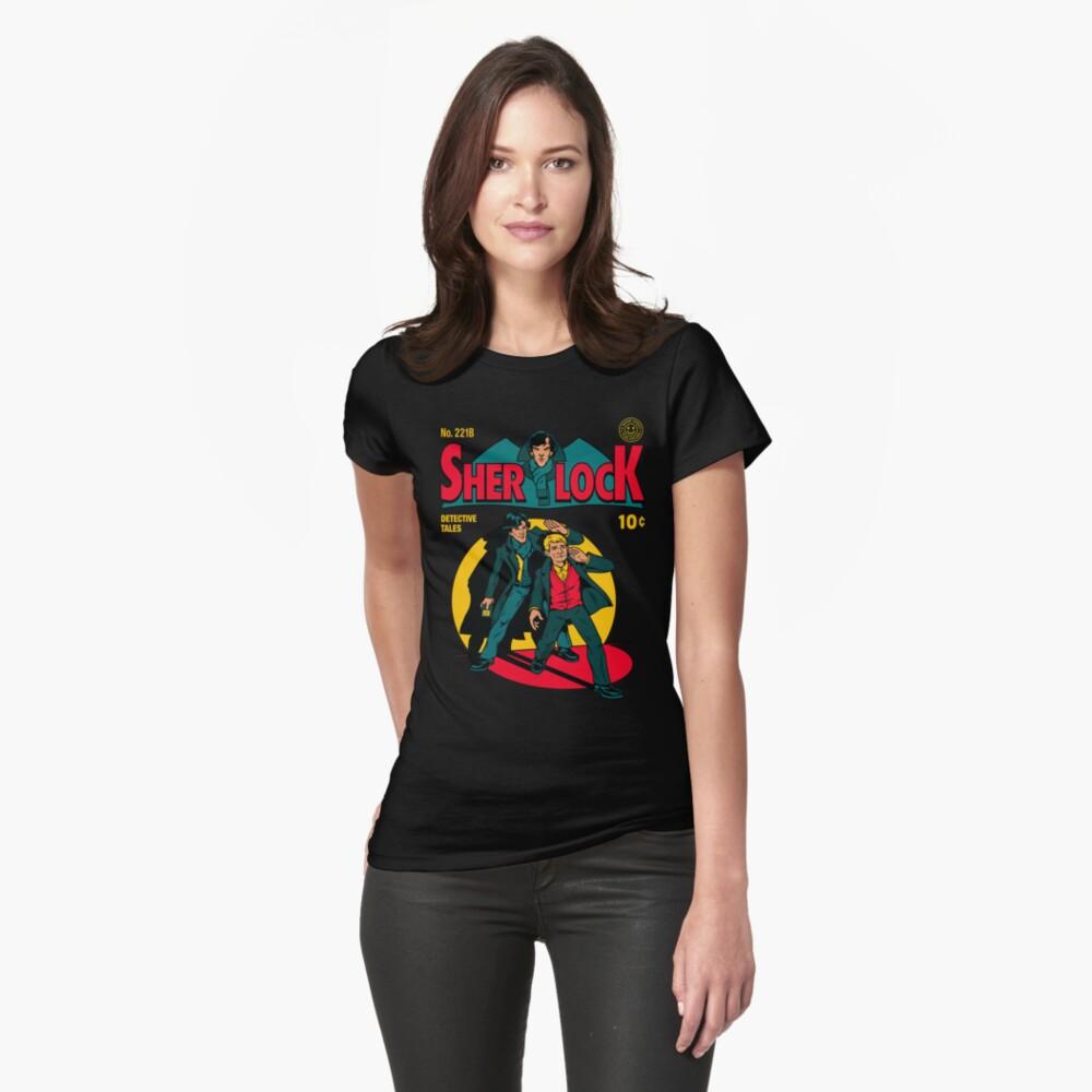 Sherlock Comic Womens T-Shirt Front