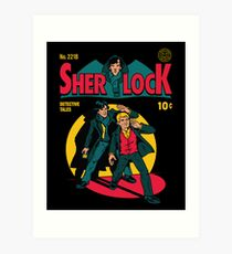 Sherlock Comic Art Print