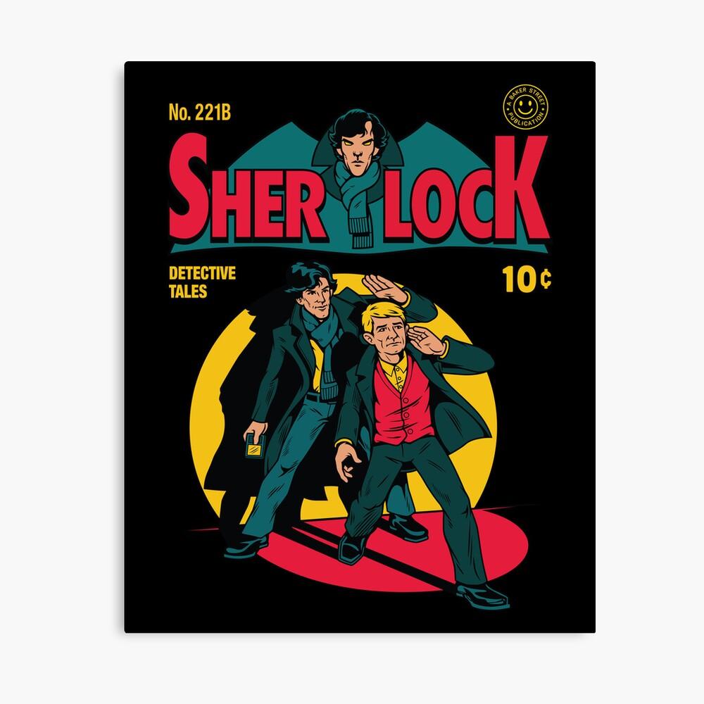 Sherlock Comic Lienzo