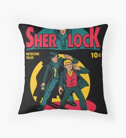 Sherlock Comic Throw Pillow