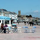 Penzance - The Sea Wall & Cafe by rsangsterkelly
