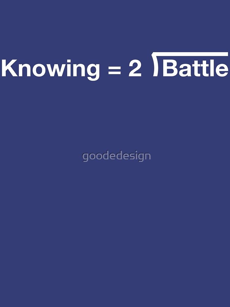 GI Joe: Knowing is half the battle (blue) by goodedesign