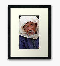 Old Man, Fes Morocco Framed Print