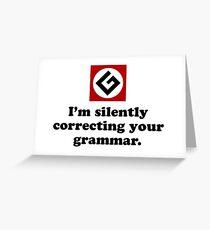 Tarjeta de felicitación I'm silently correcting your grammar.