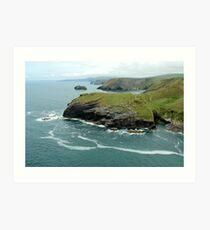 Tintagel, Cornwall  Art Print