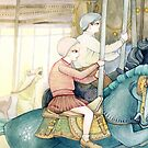 Carousel Ride by Yuliya Art