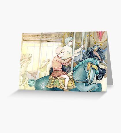 Carousel Ride Greeting Card