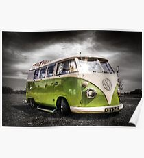 Classic VW Camper Van Poster