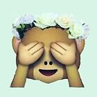 Monkey See No Evil Hipster Flower Crown Emoji by alyciathefox