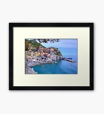 Manarola in Cinque Terre, Italy Framed Print