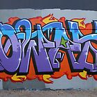 Colourful Lettering Graffiti Style by aussiebushstick