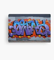 Colourful Lettering Graffiti Style Canvas Print