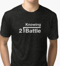 GI Joe: Knowing is half the battle (army green drab) Tri-blend T-Shirt