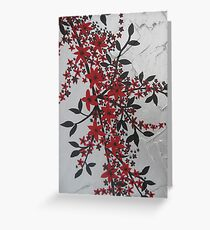 red and black blossom- bold and modern Greeting Card