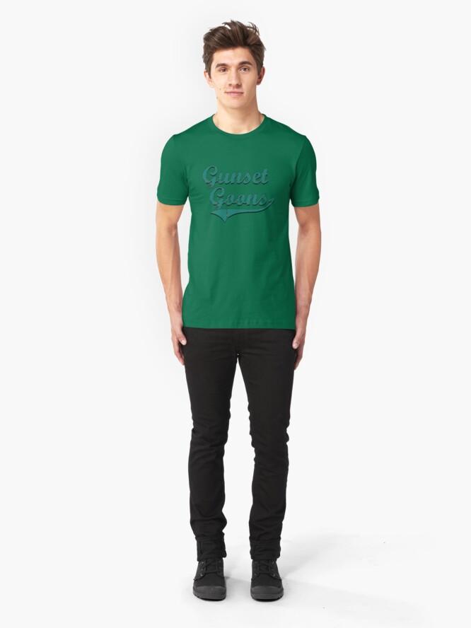 Alternate view of Gunset Goons - Evergreen Slim Fit T-Shirt