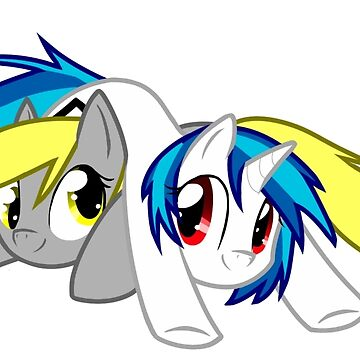 Derpy Hooves and Vinyl Scratch by Insane-Furrets