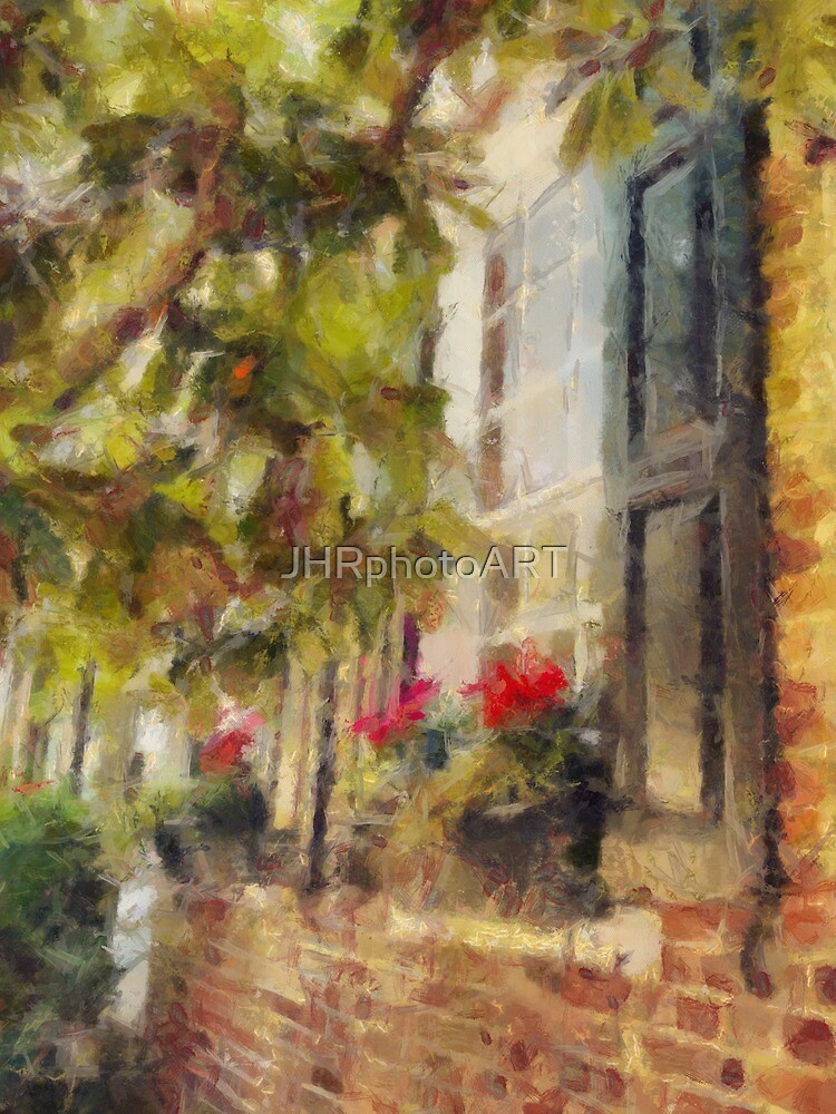 Charleston Brick House with Window Boxes by JHRphotoART