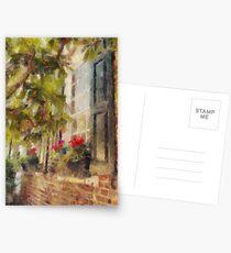 Charleston Brick House with Window Boxes Postcards