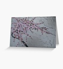 pink, purple, silver and white blossoms Greeting Card