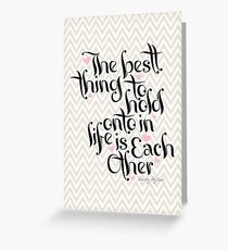 The Best Thing Greeting Card