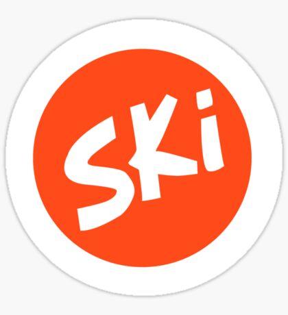 Ski Yoghurt Sticker