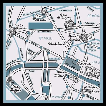 Map of Paris - Champs Elysees by moogfox