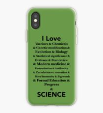 I Love Science iPhone Case