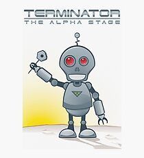 Terminator Alpha White Photographic Print