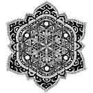 Doodle flower of life mandala by tekslusdesign