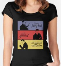 Villains of SuperWhoLock Women's Fitted Scoop T-Shirt