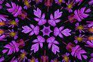 Purple Floral Fractal by Tori Snow
